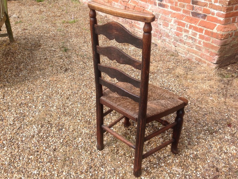 1-Pair-of-18th-century-antique-ladderback-chairs-back-and-side