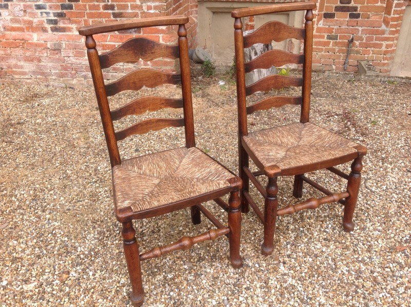1-Pair-of-18th-century-antique-ladderback-chairs-both