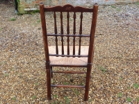 4 18th century ash ladder fan back chairs - back