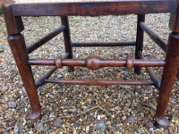 5 18th century ash ladder fan back chairs - legs