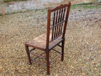3 Pair of 18th century ash ladder fan back chairs