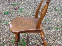 1-Pair of antique Windsor chairs - side
