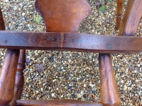 1-Antique Windsor chairs detail inscription