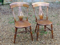 1-Pair of Antique Windsor chairs
