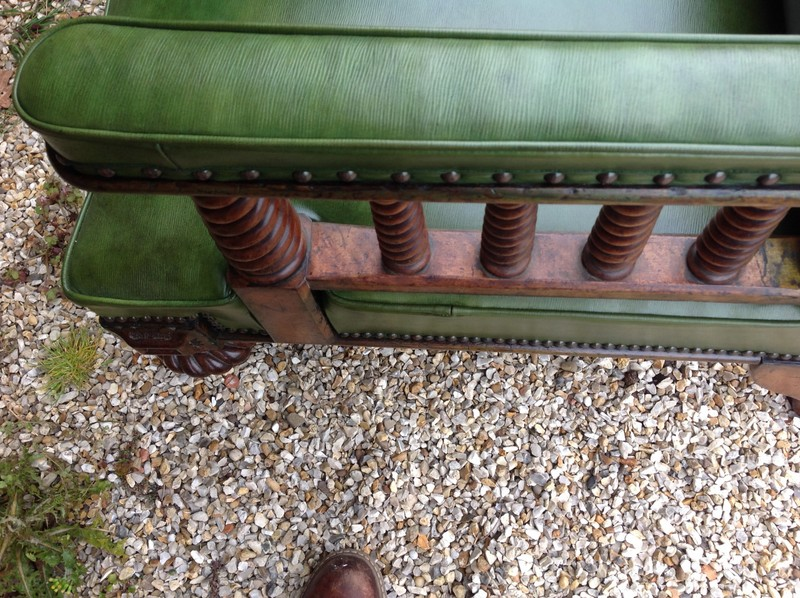 1-Rare-Scottish-walnut-Library-chair-arm-detail
