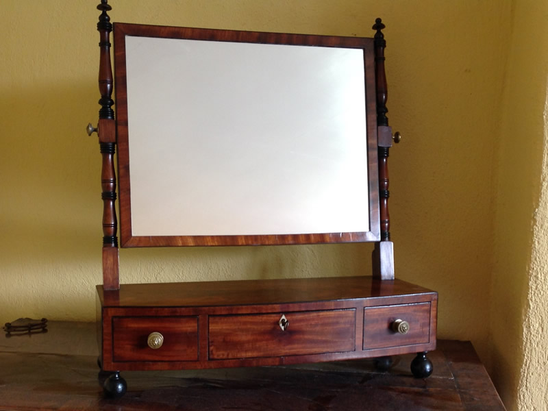 Regency mahogany dressing mirror left
