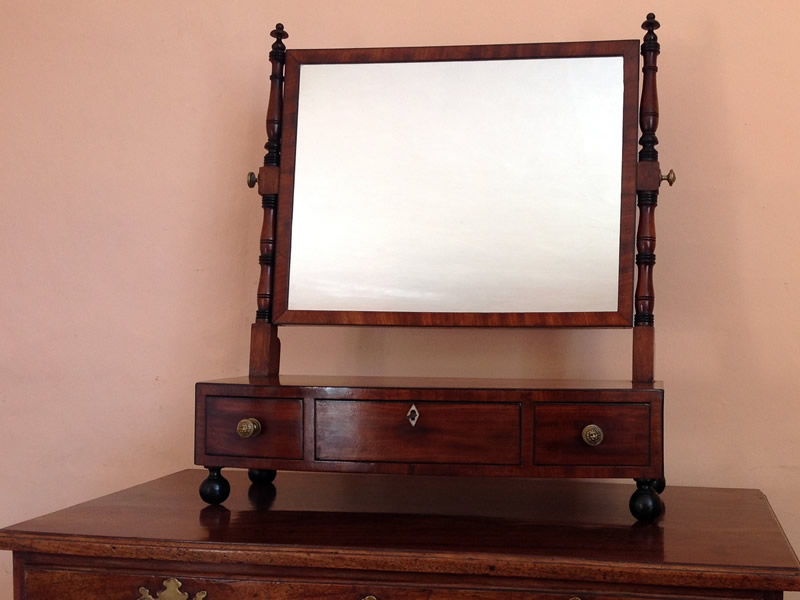 Regency mahogany toilet mirror c1820