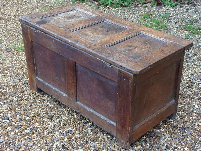 1-17th century oak coffer or chest