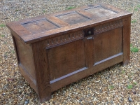 1-small 17th century oak chest