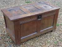1-small antique oak chest