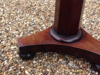 fine small solid mahogany lamp table base
