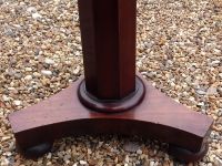 small solid mahogany table base