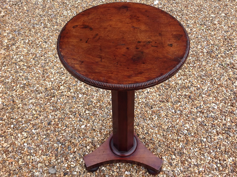 fine small solid mahogany occasional table