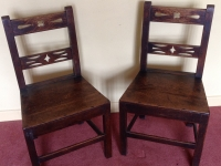 Two 18th century oak side chairs 2