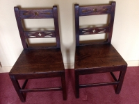 Two 18th century oak side chairs front