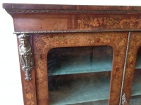 19th Century walnut pier cabinet corner