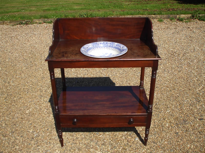 William IV mahogany washstand