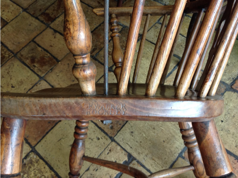 Windsor chair detail