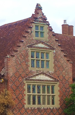 Kirstead hall - mullioned windows